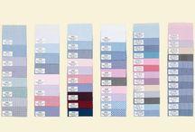 Próbki tkanin do szycia koszul na miarę / Prezentujemy próbki tkanin, z których możemy uszyć koszulę na Twoją miarę - chętnych zapraszamy do kontaktu!