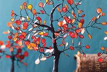 Lijm bomen en bloemen