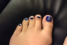 Nails. / a easy to do navy blue nail with an anchor design  / by Ashley Larkin