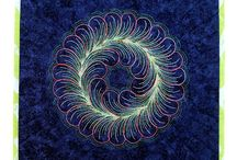 Feather Wreaths - Federkränze / Free Motion Quilting
