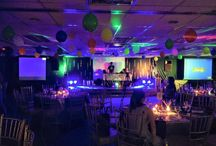 Rave Party / Burger King Christmas Party  #events #eventstyling #glowsticks #ledlights #ledballoons