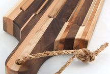 Handcrafted wooden cutting boards