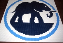 Company Lego mosaics / Our award-winning Lego mosaics grace the lobbies and walls of companies all over the world. Below are some samples of company logos we have created, made entirely from Lego.