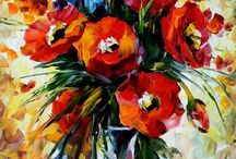 The Gift Of Fall — PALETTE KNIFE Oil Painting On Canvas By Leonid Afremod