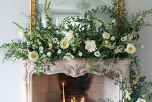 Christmas mantle arrangements