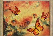 Butterflies bead embroidery kits / Beaded embroidery is easy to make. This is relaxing and very aesthetic hobby. You will get terrific result with tiny efforts - unique piece of art and attractive decoration for your home.  BEADED EMBROIDERY kit contains printed canvas, large orifice needle, beads to complete embroidery finishing of a pattern. Pattern is designer's high quality printing on canvas. Lado.artfire.com
