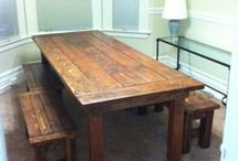 FURNITURE / Farmhouse Table & Benches
