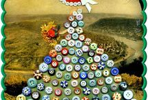 Button mosaic pictures