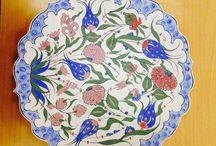 Çiçek desenli Çini / Çini çalışması