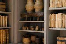 Bookshelves and dens