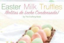easter egg milk truffles