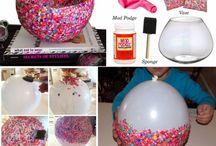 Balloon vase / Confetti