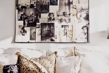 Living room photo wall