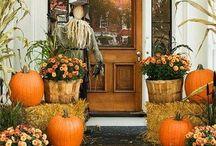 Porch Decor Ideas / Porch Decor, Front Doors, House Numbers, Fall Porches, Wreaths