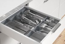 Delightful Drawers with Impala Inoxa / Functional and durable, the Impala Inoxa stainless steel drawer organiser system is completely modular so you can create the perfect cutlery drawer or utensil drawer configuration. It's also removable; ideal for easy cleaning and carrying to table or BBQ. It's the ultimate cutlery organiser or kitchen drawer organiser!