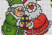 Noël-Bo.Année-Chritmas-happy new year-point de croix-cross stitch / mes créations sur Blog : http://broderiemimie44.canalblog.com/ point de croix - cross stitch - broderie - embroidery