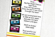 80's Party / 80's party inspiration! • Products: http://www.partyprintables.com.au