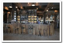 Dockyard Bar, Salford Quays / Reclaimed materials make this a truly stunning space with an industrial theme. Please visit our case study on e-architect to find out more: http://www.e-architect.co.uk/manchester/the-dockyard-bar