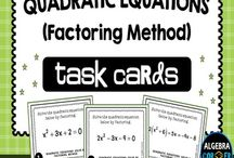Quadratic Equations / math, free math resources, quadratics, second differences, maximum, minimum, parabola, vertex, axes of symmetry, free quadratics resources, teacherspayteachers math