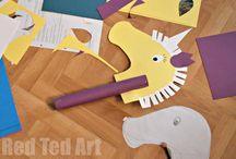 koně/horse crafts an printables for preschooler