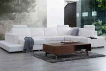 Leather Modular Lounges / http://www.loungelife.com.au/modular-leather-lounges/