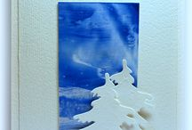 Handmade card ENCAUSTIC