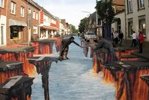 Street Art, Murals, Optical Illusions and such