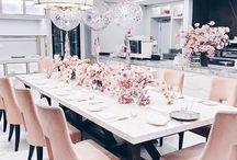 Yemek odası ve yemek masası