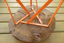 Mesa de troncos