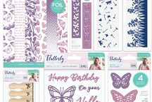 Flutterby / Introducing Sara Davies Flutterby range from Crafter's Companion! This collections is filled with papers, stamps of various  sizes and dies to complete any paper crafting projects like hopme decor or hand made cards.