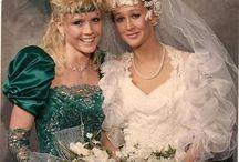 1980s wedding