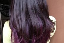 Purple ombre Black highlights / I'm about to change my hair color...to darkend my view ;)