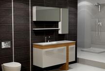 Bath furniture ARTIC / Επιπλο μπάνιου σε συνδυασμό Ξύλου και λευκής λάκας. Η διάσταση της βάσης είναι 130x45cm ενώ ο νιπτήρας είναι απο κρύσταλλο πάχους 15mm. Το άνω τμήμα αποτελείται απο 2 Ερμάρια με καθρέπτη καθώς και μία εταζέρα.
