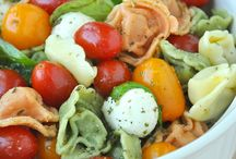 salad,vegetables and fruits / enjoying eating you fruit and vegetables