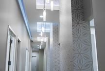 Hallway Dental Office Designs / Some interesting, fun, eclectic hallway interior designs by Arminco Inc