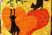 MOSAIC II - katten cats / katten in mozaiek - cats