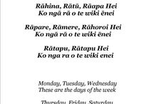 Te Reo - Days of the Week