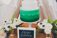 cakes & dessert tables - rustic woodsy wedding