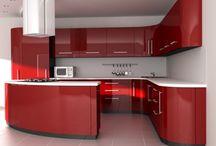 Red Kitchen / Czerwona kuchnia / Czerwone urządzenia i dodatki do kuchni