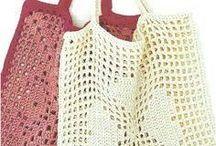 Crochet shopping bags