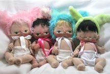 Soft Sculptured Dolls / My favorite soft sculptured dolls including my own BeBe Babies.