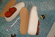обувь войлок / выкройки, мастер-класс, тапочки