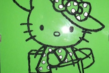 Hello Kitty goes shopping / by Disegni su vetro
