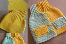 Knitted childs vest free