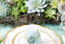 Inspiratiebord Mint & Goud
