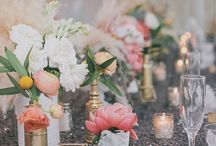 Peach -  White Elegant Wedding