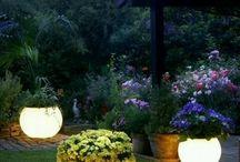 Out door lighting for the garden..