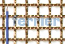 Architectural and design wire mesh. / A range of architectural and design weavemesh.