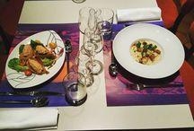 """Menu du jour / Vous retrouverez ici quelques exemples de plats servis dans notre menu du jour qui évolue chaque semaine. You will find here some examples of dishes served in our """"menu du jour"""" that changes weekly."""