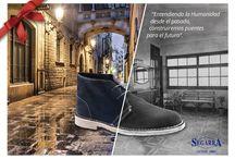 Postales de Navidad / Postales de Calzados Segarra para agradecer a clientes, trabajadores y simpatizantes de la marca su fidelidad.